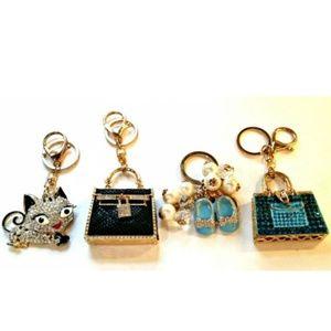Accessories - 4 Rhinestone Purse Dangles KeyvFobs Handbag Bags